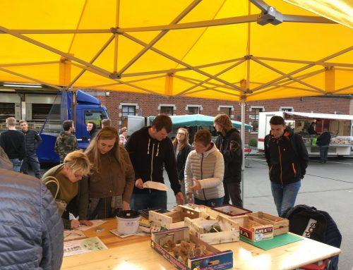 Sensibilisation aux champignons sur le marché de Baudour