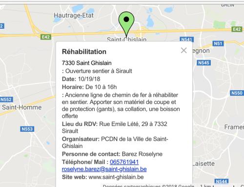 Réhabilitation d'un sentier à Sirault en partenariat avec le PCDN de Saint-Ghislain