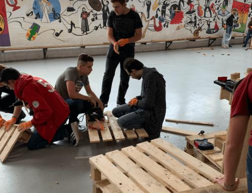 Conception de meubles en palettes  pour le projet d'éco-design